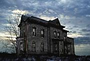 Haunted House Digital Art Metal Prints - Dark Ruttle County Metal Print by Tom Straub