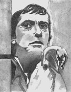 James Griffin Prints - Dark Shadows Barnabas Collins Print by James Griffin