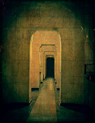 Leading Metal Prints - Dark Sinister Hallway Metal Print by Edward Fielding