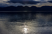 Sparkling Prints - Dark Sparkling Flathead Lake in Montana Print by Scotts Scapes