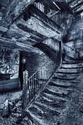 Mysterious Doorway Posters - Dark Staircase Poster by Margie Hurwich
