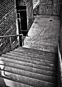 Stair Walk Prints - Dark Stairwell Print by Greg Jackson
