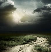 Dark Storm Cloud Print by Boon Mee