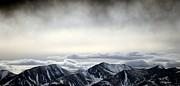 Colorado Mountain Posters Prints - Dark Storm Cloud Mist  Print by Barbara Chichester