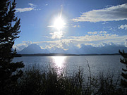 Wyoming Photo Prints - Dark Sun Lake Print by Mike Podhorzer