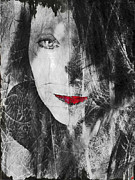 Emotions Digital Art Prints - Dark Thoughts Print by Linda Sannuti