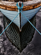 Boats Tapestries Textiles - Dark waters by Stylianos Kleanthous