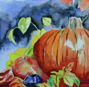 Pumpkins Paintings - Darkening by Beverley Harper Tinsley