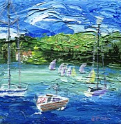 Pallet Knife Painting Prints - Darling Harbor II Print by Jamie Frier