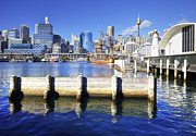 Australia Art - Darling Harbour Sydney Australia by Colin and Linda McKie
