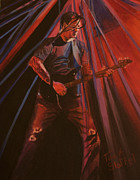 Rock N Roll Paintings - Darrell Mitchell of RECOIL by Tina A Stoffel
