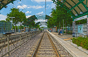 Railroad Stations Prints - Dart Rail Dallas Zoo HDR Print by Charles Beeler