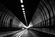 Tunnels Digital Art Posters - Dartford Crossing Tunnel Poster by Natalie Kinnear