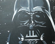 Darth Vader Paintings - Darth by Lisa Leeman
