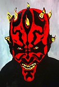 Sith Paintings - Darth Maul Impression Small by Saundra Myles