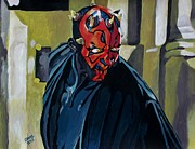 Jedi Painting Posters - Darth Maul Poster by Jeremy Moore