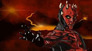 Sith Posters - Darth Maul Mythos Poster by James Gilmore