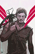 Celebrity Digital Art Prints - Daryl Dixon Print by Jeremy Scott