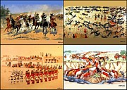 Cards Prints - Dash Timber Battle Horn Hopi Dance Longhorns Drive  Print by Buddy Paul