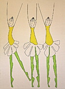 Ballet Dancers Prints - Dasies Print by Donna Howard