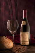 Winebottle Prints - Date Night Still Life Print by Tom Mc Nemar