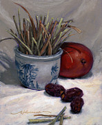 Pottery Paintings - Dates Lemongrass and Mango by Randy Wollenmann