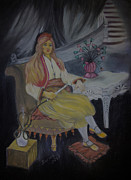 Asia Pastels - Daughter of a Landlord from 1910 by Serran Dalmak