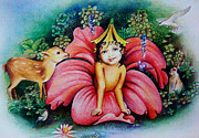 Jungle Pastels Originals - Daughter Of Nature by Pallavi Patil