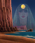 Sea Moon Full Moon Prints - Daughter of the Moon Print by Dominic Piperata