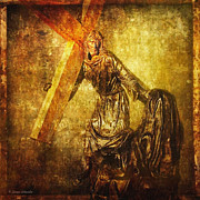 Stations_of_the_cross Digital Art - Daughters of Jerusalem Via Dolorosa 8 by Lianne Schneider