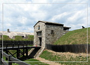Five Nations Prints - Dauphin Battery and Gate of the Five Nations Old Fort Niagara Print by Rose Santuci-Sofranko