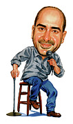 Caricature Paintings - Dave Attell by Art