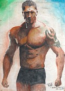 Wrestling Painting Originals - Dave Batista by GLeaf Jaffna