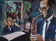 Brubeck Framed Prints - Dave Brubeck Quartet Framed Print by Matthew OHanlon