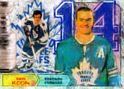 Hockey Mixed Media - Dave Keon by Brian Verhoog