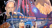 Celebrities Drawings Framed Prints - Dave matthews and Tim Reynolds at Radio City Framed Print by Joshua Morton