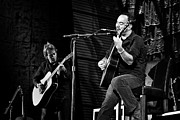 Rock And Roll Bands Framed Prints - Dave Matthews and Tim Reynolds Framed Print by The  Vault - Jennifer Rondinelli Reilly