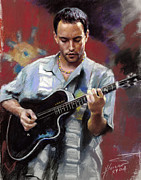Actor Drawings Posters - Dave Matthews Poster by Viola El