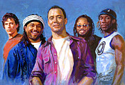 Dave Matthews Drawings - Dave Matthews Band by Viola El