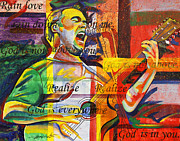 Lead Singer Painting Framed Prints - Dave Matthews Bartender Framed Print by Joshua Morton