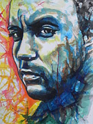 Rock Shapes Paintings - Dave Matthews by Chrisann Ellis