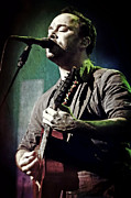 Concerts Photo Prints - Dave Matthews Live Print by The  Vault - Jennifer Rondinelli Reilly