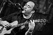 Rock And Roll Bands Photo Framed Prints - Dave Matthews on Guitar 2 Framed Print by The  Vault - Jennifer Rondinelli Reilly