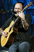 Dmb Prints - Dave Matthews on Guitar 3 Print by The  Vault - Jennifer Rondinelli Reilly