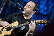 Jennifer Rondinelli Reilly Framed Prints - Dave Matthews on Guitar 6 Framed Print by The  Vault - Jennifer Rondinelli Reilly