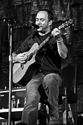 Rock And Roll Bands Photo Framed Prints - Dave Matthews on Guitar 9  Framed Print by The  Vault - Jennifer Rondinelli Reilly