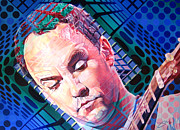 Optical Art Prints - Dave Matthews Open Up My Head Print by Joshua Morton