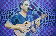 Lead Singer Metal Prints - Dave Matthews Pop-Op Series Metal Print by Joshua Morton