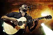 Live Music Photo Framed Prints - Dave Matthews Scream Framed Print by The  Vault - Jennifer Rondinelli Reilly