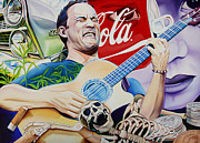 Lead Singer Painting Metal Prints - Dave Matthews Seek Up Metal Print by Joshua Morton